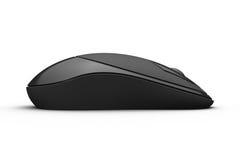 мышь черного компьютера бесшнуровая произведенная Стоковая Фотография RF
