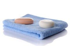 Мыла на полотенце Стоковая Фотография RF