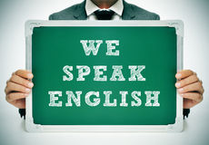 Мы говорим английский язык стоковые изображения