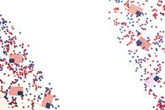 Мы День независимости, 4-ое июля, День памяти погибших в войнах, патриотизм и ветераны, праздник страны, флаги и swezy стоковые изображения rf