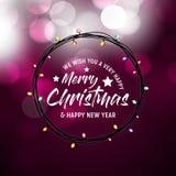 Мы желаем вам веселое рождество и счастливую предпосылку Нового Года бесплатная иллюстрация
