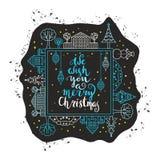 Мы желаем вам с Рождеством Христовым иллюстрация штока