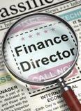 Мы директор финансов рабочего места re ` 3d стоковые фотографии rf