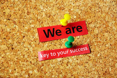 Мы ключевы к успеху yor Стоковые Фото
