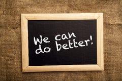 Мы можем сделать лучшее, мотивационное messsage Стоковые Фотографии RF