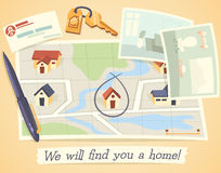 Мы найдем вы дом Стоковое фото RF