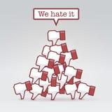 Мы ненавидим его Стоковое Изображение