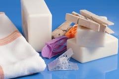 Мыло, одежды и прачечная Стоковое фото RF
