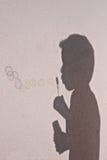 Мыло пузыря тени Стоковая Фотография RF