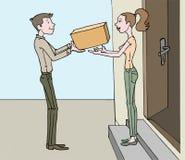 Мы поставляем к вашей двери Стоковое Изображение RF