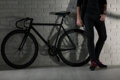 Мы получаем стиль: я и мой велосипед Стоковые Изображения
