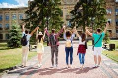 Мы сделали его! Да! Успешное будущее для умной молодости! 6 attractiv Стоковые Изображения