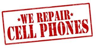 Мы сотовые телефоны ремонтов иллюстрация вектора