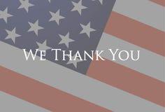 Мы спасибо ветераны Стоковые Изображения