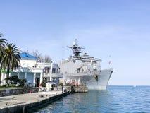 Мы холм дуба военного корабля в морском порте Батуми Стоковое фото RF