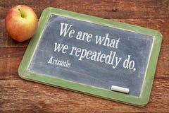 Мы что Цитата Аристотеля Стоковые Фото