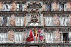 Мэр Здание площади, Мадрид, Испания Стоковые Изображения