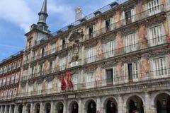 Мэр Здание площади, Мадрид, Испания стоковое изображение rf