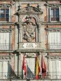 Мэр площади, один из главных ориентир ориентиров в Мадриде Стоковые Изображения RF