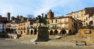Мэр площади Trujillo, Caceres Стоковое Изображение