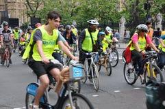 Мэр события Skyride Лондона задействуя в Лондоне, Англии Стоковые Изображения RF