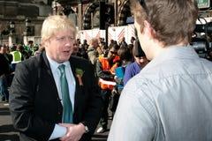 мэр boris johnson london стоковая фотография