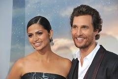 Мэттью McConaughey & Camila Alves McConaughey Стоковые Фотографии RF