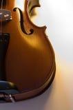 мюзикл 6 близкий аппаратур вверх по скрипке Стоковое фото RF