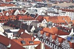 Мюнхен. Германия. Бавария, взгляд от верхней части Стоковое Фото