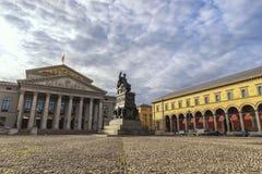 Мюнхен Германия на Макс Иосиф Platz стоковая фотография