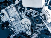Мюнхен, Германия - 10-ое марта 2016: Двигатель автомобиля в музее BMW Стоковое Изображение