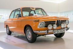 Мюнхен, Германия - 10-ое марта 2016: собрание классических автомобилей на дисплее в музее BMW Стоковое Изображение