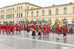 Мюнхен, Германия, 18-ое сентября 2016: Традиционный парад костюма во время Octoberfest 2016 в Мюнхене Стоковое фото RF