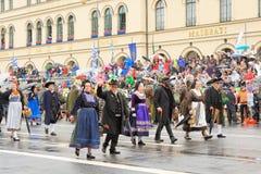 Мюнхен, Германия, 18-ое сентября 2016: Традиционный парад костюма во время Octoberfest 2016 в Мюнхене Стоковое Изображение