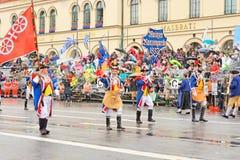 Мюнхен, Германия, 18-ое сентября 2016: Традиционный парад костюма во время Octoberfest 2016 в Мюнхене Стоковая Фотография