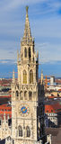 Мюнхен, готический здание муниципалитет на Marienplatz, Баварии Стоковая Фотография