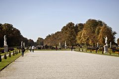 Мюнхен, осенний взгляд парка замка Nymphenburg Стоковые Изображения RF