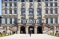 МЮНХЕН, привлекательность дворца Nymphenburg touristic Стоковое Изображение