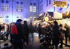 Мюнхен, рождественская ярмарка на Residenz Kaiserhof Стоковые Изображения