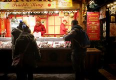 Мюнхен, рождественская ярмарка на Residenz Kaiserhof Стоковое Изображение
