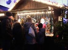 Мюнхен, рождественская ярмарка на Residenz Kaiserhof Стоковая Фотография RF