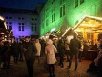 Мюнхен, рождественская ярмарка на Residenz Kaiserhof Стоковое Фото