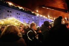 Мюнхен, рождественская ярмарка на Residenz Kaiserhof Стоковые Фотографии RF