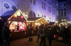 Мюнхен, рождественская ярмарка на Residenz Kaiserhof Стоковые Фото