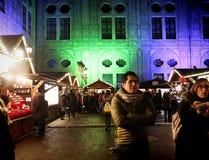 Мюнхен, рождественская ярмарка на Residenz Kaiserhof Стоковое фото RF