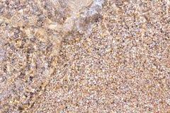 Мягкая волна на песочном Стоковое Изображение