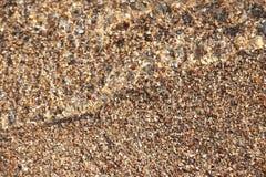 Мягкая волна пляжа песка swash моря Стоковое фото RF