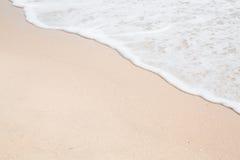 Мягкая волна пляжа Стоковая Фотография RF