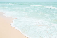 Мягкая волна пляжа Стоковая Фотография