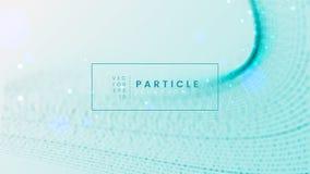 Мягкая голубая абстрактная предпосылка волны с запачканным влиянием движения - иллюзией частицы Смогите быть использовано для укр иллюстрация вектора